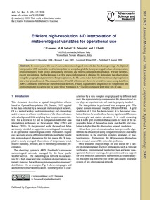 Efficient High-resolution 3-d Interpolat... by Lussana, C.