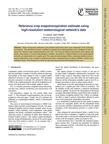 Reference Crop Evapotranspiration Estima... by Lussana, C.