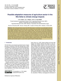 Possible Adaptation Measures of Agricult... by Attaher, S. M.