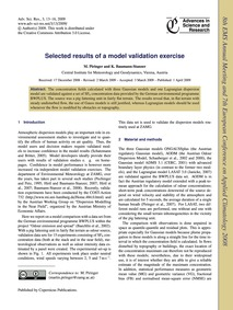 Selected Results of a Model Validation E... by Piringer, M.