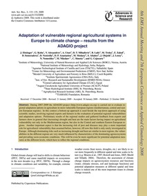 Adaptation of Vulnerable Regional Agricu... by Eitzinger, J.