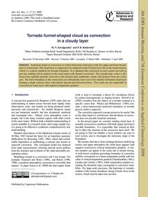 Tornado Funnel-shaped Cloud as Convectio... by Zavolgenskiy, M. V.