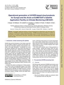Operational Generation of Avhrr-based Cl... by Kaspar, F.