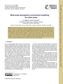 Multi-scale Atmospheric Environment Mode... by Baklanov, A. A.