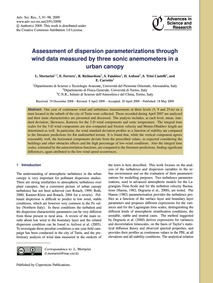 Assessment of Dispersion Parameterizatio... by Mortarini, L.