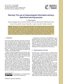 Warning! the Use of Meteorological Infor... by Créton-cazanave, L.