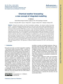 Chemical Weather Forecasting: a New Conc... by Baklanov, A.