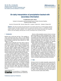 On Daily Interpolation of Precipitation ... by Krähenmann, S.