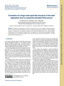 Formation of a Large Scale Spot-like Str... by Skrynyk, O. Y.