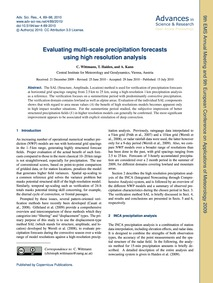 Evaluating Multi-scale Precipitation For... by Wittmann, C.