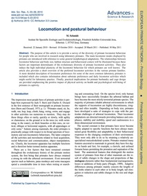 Locomotion and Postural Behaviour : Volu... by Schmidt, M.