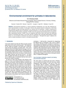 Environmental Enrichment for Primates in... by Buchanan-smith, H. M.