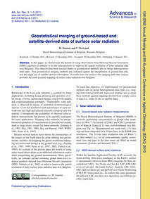 Geostatistical Merging of Ground-based a... by Journée, M.