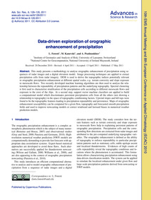 Data-driven Exploration of Orographic En... by Foresti, L.