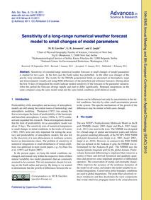 Sensitivity of a Long-range Numerical We... by Gavrilov, M. B.