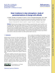 Solar Irradiance in Clear Atmosphere: St... by Oumbe, A.