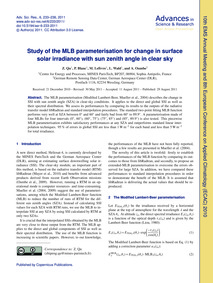 Study of the Mlb Parameterisation for Ch... by Qu, Z.