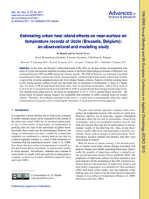 Estimating Urban Heat Island Effects on ... by Hamdi, R.