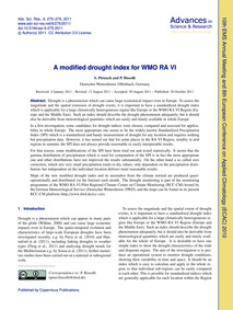 A Modified Drought Index for Wmo Ra VI :... by Pietzsch, S.