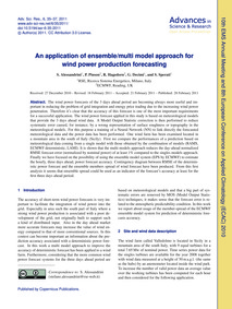 An Application of Ensemble/Multi Model A... by Alessandrini, S.