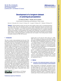 Development of a Longterm Dataset of Sol... by Chimani, B.