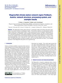 Wegenernet Climate Station Network Regio... by Kabas, T.