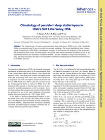 Climatology of Persistent Deep Stable La... by Zhong, S.