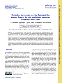 Correlation Between Air-sea Heat Fluxes ... by Papadopoulos, V. P.