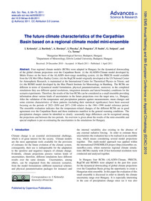 The Future Climate Characteristics of th... by Krüzselyi, I.