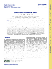 Newest Developments of Acmant : Volume 6... by Domonkos, P.
