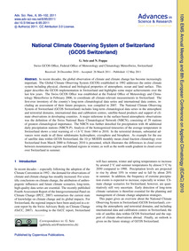National Climate Observing System of Swi... by Seiz, G.