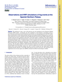 Observations and Wrf Simulations of Fog ... by Román-cascón, C.