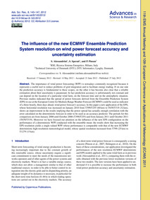 The Influence of the New Ecmwf Ensemble ... by Alessandrini, S.