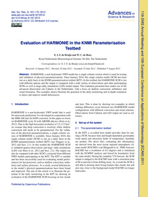 Evaluation of Harmonie in the Knmi Param... by De Bruijn, E. I. F.