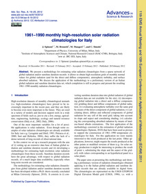 1961–1990 Monthly High-resolution Solar ... by Spinoni, J.