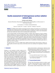 Quality Assessment of Heterogeneous Surf... by Becker, R.