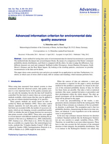 Advanced Information Criterion for Envir... by Düsterhus, A.