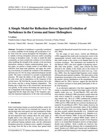 A Simple Model for Reflection-driven Spe... by Laitinen, T.