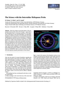 The Science with the Interstellar Heliop... by Fichtner, H.