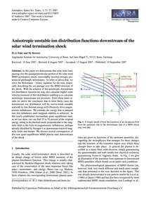 Anisotropic Unstable Ion Distribution Fu... by Fahr, H.-j.