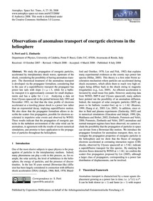 Observations of Anomalous Transport of E... by Perri, S.