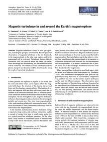 Magnetic Turbulence in and Around the Ea... by Zimbardo, G.
