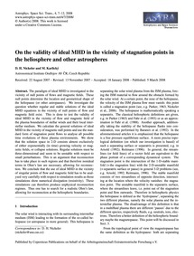 On the Validity of Ideal Mhd in the Vici... by Nickeler, D. H.