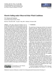 Electric Sailing Under Observed Solar Wi... by Toivanen, P. K.