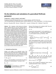On the Definition and Calculation of a G... by Pilchowski, J.