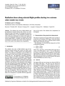 Radiation Doses Along Selected Flight Pr... by Bütikofer, R.