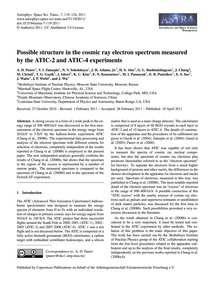 Possible Structure in the Cosmic Ray Ele... by Panov, A. D.