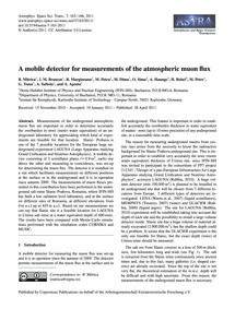 A Mobile Detector for Measurements of th... by Mitrica, B.