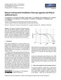 Baksan Underground Scintillation Telesco... by Dzaparova, I. M.