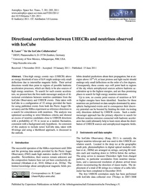 Directional Correlations Between Uhecrs ... by R. Lauer<Sup>1,2</Sup> for the Icecube Collaborati...